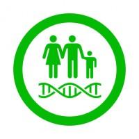 Icono redondo ADN verde